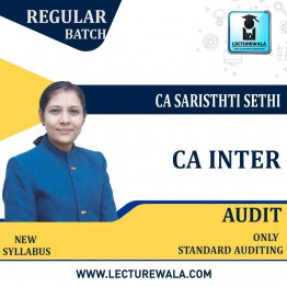 CA Inter Standard Audit Regular Course : Video Lecture + Study Material By CA Sarishti Sethi (For Nov.2020)