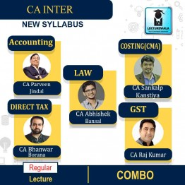 CA Inter Group-1 All Subject Regular Course: Video Lectures + Study Materials by CA Parveen Jindal, CA Abhishek Bansal, CA Sankalp Kanstiya, CA Bhanwar Borana, CA Raj Kumar (For May 2021 & Nov. 2021)