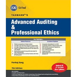 CA FINAL  Advanced Auditing & Professional Ethics Old and New Syllabus by CA Pankaj Garg  For May 2021