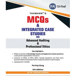 CA FINAL MCQ's and Integrated Case Studies On Advanced Auditing & Professional Ethics Old and New Syllabus by CA Pankaj Garg  For May 2021