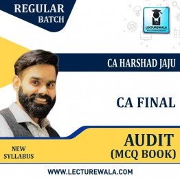 CA Final Auditing MCQ New Syllabus : MCQ Book By CA Harshad jaju (For May 2021 & Nov. 2021)