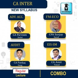 CA Inter Group-2 All Subject Regular Course: Video Lectures + Study Materials by CA Parveen Jindal, CFA Sanjay Saraf, CA Pankaj Garg, CA Amit Tated (For May 2021 & Nov. 2021)