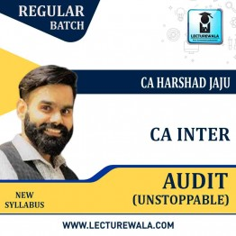 CA IPCC GROUP II Auditing and Assurance Unstoppable Book By CA HARSHAD JAJU (For May/Nov. 2021)