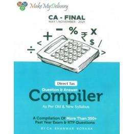 CA FINAL Direct Tax Compiler Book By CA Bhanwar Borana For Nov. 2021