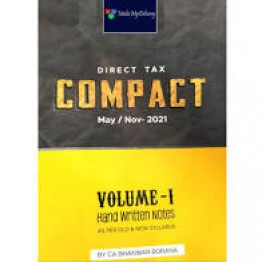 CA Final Direct Tax Handwritten Compact Book (1 & 2 Volumes) CA Bhanwar Borana For Nov. 2021