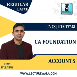 CA Foundation Accounts  Regular Course New Syllabus : Video Lecture + Study Material By CA CS Jitin Tyagi (For May 2021 & Nov. 2021)