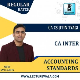 CA Inter Group 1 Accounting Standards Regular Course New Syllabus : Video Lecture + Study Material By CA CS Jitin Tyagi (For May 2021 & Nov. 2021)