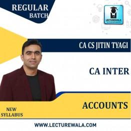 CA Inter Group 1 Accounts Regular Course New Syllabus : Video Lecture + Study Material By CA CS Jitin Tyagi (For May 2021 & Nov. 2021)