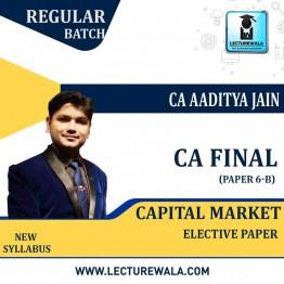 CA Final Capital Market (FSCM) Paper-6B Elective Paper : Video Lecture + Study Material By CA Aaditya Jain (For Nov. 2021 & May 2022)