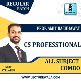 CS Professional Module 1 and Module 2 & Module 3  combo New Syllabus : Video Lecture + Study Material By Amit Bachhawat (For Dec. 2021)