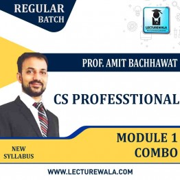 CS Professional Module 1 (Governance, Risk Management, Compliances and Ethics| Drafting, Pleadings and appearances) combo New Syllabus : Video Lecture + Study Material By Amit Bachhawat (For Dec. 2021)