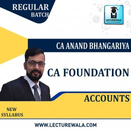 CA Foundation Accounting  Fastrack Online Live : Video Lecture + Study Material By CA Anand Bhangariya (For May 2021 & Nov. 2021)