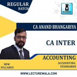 CA Inter Accounting (G 1) Accounting Standard Regular Course  : Video Lecture + Study Material by CA Anand Bhangariya (For May 2021 & Nov. 2021)