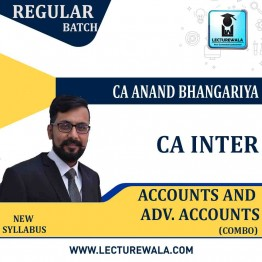 CA Inter Accounts & Adv. Accounts Combo : Video Lecture + Study Material By CA Anand Bhangariya (For May 2021)