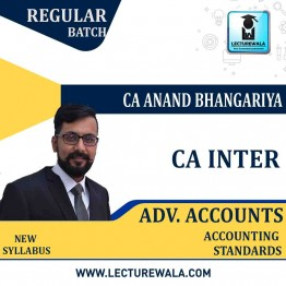 CA Inter Advance Accounting (G 2) Accounting Standard Regular Course  : Video Lecture + Study Material by CA Anand Bhangariya (For May 2021 & Nov. 2021)