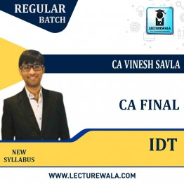 CA Final Indirect Tax Laws : Video Lecture + Study Material By CA Vinesh Savla (For May 2021/2022)