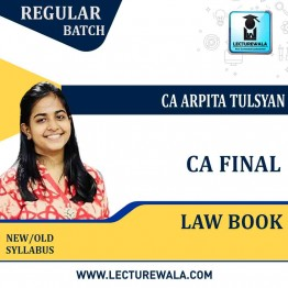 CA Final Law Book 6th Edition New Syllabus By CA Arpita Tulsyan (For May. 2021)