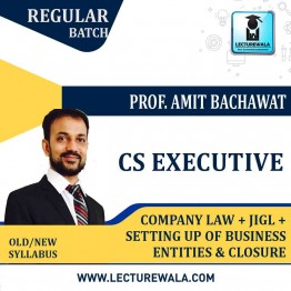 CS Executive Company Law + Setting up of Business Entities and Closure + Jurisprudence, Interpretation & General Laws Combo : Video Lecture + Study Material By Amit Bachhawat (For Dec. 2021)