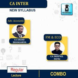 CA Inter FM-ECO & Adv. Accounts Regular Course (1.3 Views) Combo : Video Lecture + Study Material By CA Swapnil Patni and CA Anand Bangariya (For Nov. 2021 & May 2022)
