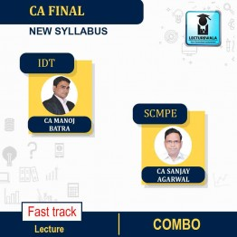 CA Final SCMPE and IDT Combo Fast Track New Recording : Video Lecture + Study Material By CA Sanjay Aggarwal & CA Manoj Batra (For Nov 2021 & May 2022)