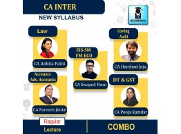 CA Inter Both Group Regular Course Combo : Video Lecture + Study Material By SPC (For May 2021 & Nov. 2021)