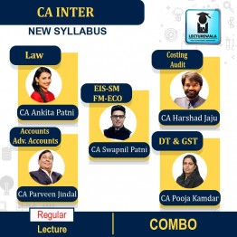 CA Inter Both Group Combo Regular Course : Video Lecture + Study Material By CA Swapnil Patni, CA Harshad Jaju, CA Ankita Patni, CA Pooja Kamdar & CA Parveen Jindal (For Nov. 2021 & May 2022)