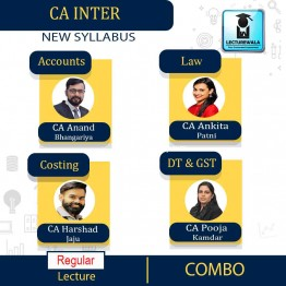 CA INTERMEDIATE Group 1 Combo Online Mobile Live batch starting from 4th Jan 20 (1st Installment)