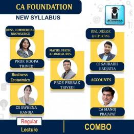CA Foundation All Subjects Regular Course Combo : Video Lecture + Study Material By Prerak Trivedi, Roopa Trivedi, CA Manoj Prajapat, CS Sweena Kanuja, CS Saurabh Badjatia And Prof. Mridul Dadhich (For Nov. 2021)