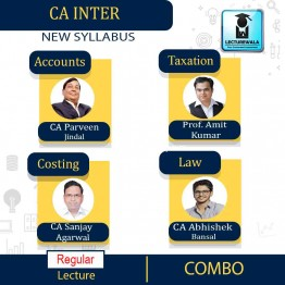 CA Inter Group 1 Regular Course Combo By CA Parveen Jindal, CA Abhishek Bansal, CA Sanjay Agarwal and Amit Kumar (For May 2021 & Nov. 2021)