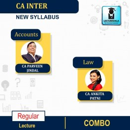 CA Inter Law & Accounts New Syllabus Regular Course : Video Lecture + Study Material by CA Ankita Patni And CA Parveen Jindal (For Nov. 2021 and May 2022)
