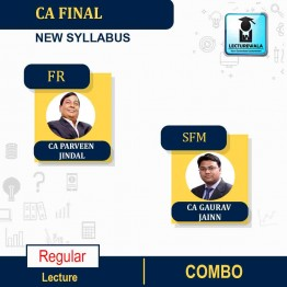 CA Final SFM and Financial Reporting Combo Regular Course : Video Lecture + Study Material By CA Gaurav Jainn & CA Parveen Jindal (For May 2021 & Nov. 2021)