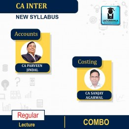 CA Inter Costing and Accounts New Syllabus Regular Course : Video Lecture + Study Material by CA Sanjay Agarwal And CA Parveen Jindal (For May & Nov. 2021)