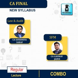 CA Final SFM , Audit And Law Combo Regular Course : Video Lecture + Study Material By CA Gaurav Jainn & CA Sanidhiya Saraf  (For  May 2021 & Nov. 2021)