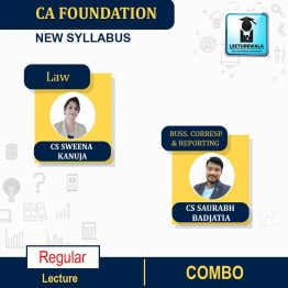 CA Foundation Law And Business Correspondence Reporting Regular Course Combo : Video Lecture + Study Material By CS Sweena Kanuja And CS Saurabh Badjatia (For Nov. 2020)