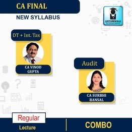 CA Final Direct Tax (Old/New Syllabus) & Audit (New Syllabus) Combo Regular Course : Video Lecture + Study Material By CA Vinod Gupta & CA Surbhi Bansal For (MAY 2021 TO NOV.2021)