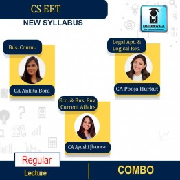 CS EET All Subject Combo : Video Lecture + Study Material By CA Ankita Bora, CA Pooja Hurkat & CA Ayushi Jhanwar (For DEC. 2020 & Onwards)