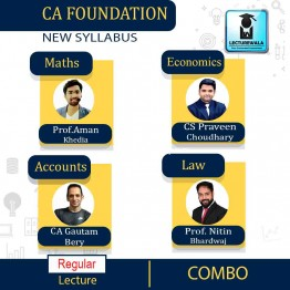 CA Foundation All Subject Combo : by CA Gautam Bery, CA Aman Khedia, CA Nitin Bhardwaj & CS Praveen choudhary (For Nov 2021 and May 2021)