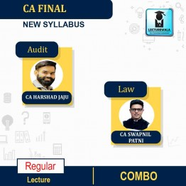 CA Final Laws and Audit Combo New Syllabus Latest Recording Regular Course : Video Lecture + Study Material By CA Swapnil Patni & CA Harshad Jaju (For May 2021 & Nov. 2021)