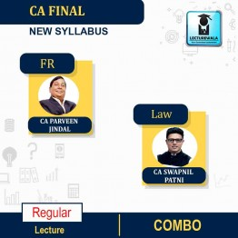 CA Final Laws and Financial Reporting Combo Regular Course : Video Lecture + Study Material By CA Swapnil Patni & CA Parveen Jindal (For May 2021 & Nov. 2021)
