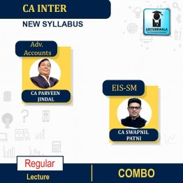CA Inter EIS-SM & Adv. Accounts Regular Course Combo : Video Lecture + Study Material By CA Swapnil Patni and CA Parveen Jindal (For Nov. 2021 & May 2022)