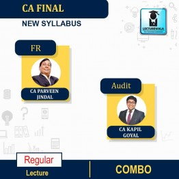 CA Final FR and Audit New & Old Syllabus Regular Course Combo by CA Parveen Jindal and CA Kapil Goyal (For May 2021 & Nov. 2021)