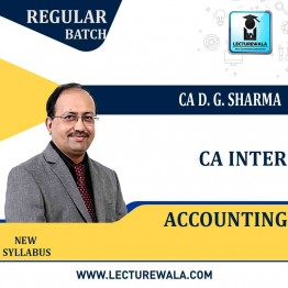 CA Inter Accounts Regular Course : Video Lecture + Study Material By DG Sharma (For May 2021 & Nov. 2021)