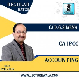 CA Ipcc Accounting Regular Course : Video Lecture + Study Material By DG Sharma (For May 2021 & Onwards)