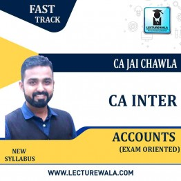 CA Inter Accounts Exam Oriented Crash Course : Video Lecture + Study Material By CA Jai Chawla (For May 2021 & Nov. 2021)