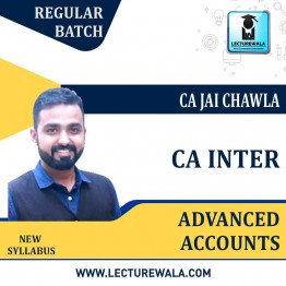 CA Inter Advanced Accounts Full Recorded Regular Course : Video Lecture + Study Material By CA Jai Chawla (For May 2022 TO NOV.2021)