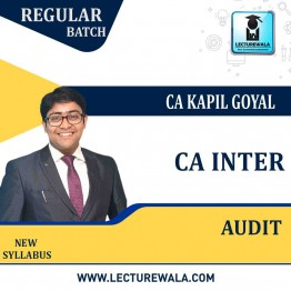 CA Inter Audit New Syllabus Regular Course : Video Lecture + Study Material by CA Kapil Goyal (For May 2021 & Nov. 2021)