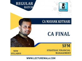 CA Final SFM New Syllabus Full Course : Video Lecture + Study Material By CA Mayank Kothari (For Nov. 2021 & May. 2022 )