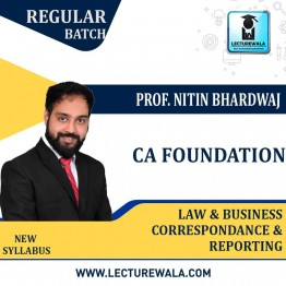 CA Foundation Law & Business Correspondence And Reporting Crash Course : Video Lecture + Study Material By Prof. Nitin Bhardwaj (For Nov. 2020)