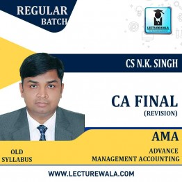 CA Final AMA Revision Classes New Syllabus : Video Lecture + Study Material By CS N K Singh (For Nov. 2020)