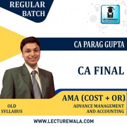 CA Final AMA Regular Course : Video Lecture + Study Material By CA Parag Gupta (For Nov. 2021)